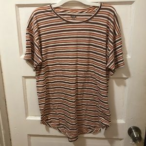 Madewell stripe short sleeve crew neck T-shirt tee